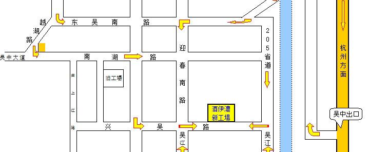 酒伊浓服装(苏州)有限公司地图map